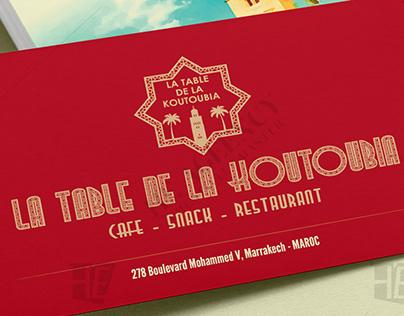 Projet LA TABLE DE LA KOUTOUBIA - Marrakech 2019