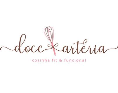 Logo Doce Arteria - cozinha fit & funcional