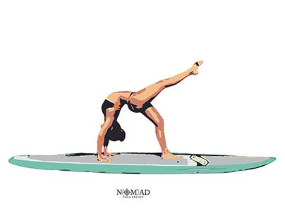 Web Design + Merchandise design | Nomad Yoga & SUP