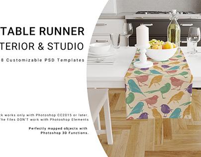 Table Runner Interior and Studio Set