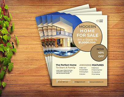 Realestate Corporate Flyer Template