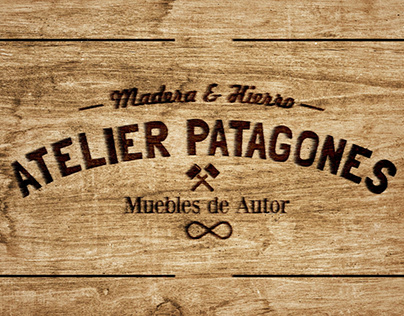 Atelier Patagones Logo Sello Fuego