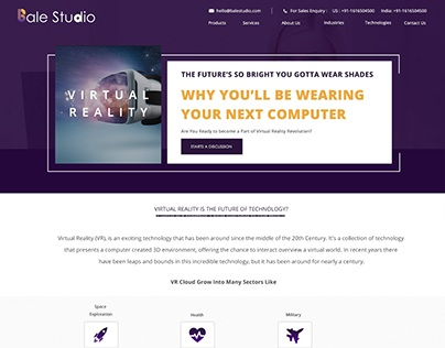 Virtual Reality Website Mock-up