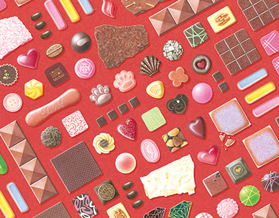 Chocolate illustrations for a Valentine's Day event