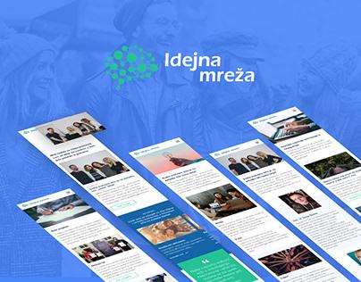 Ideas Network - website design