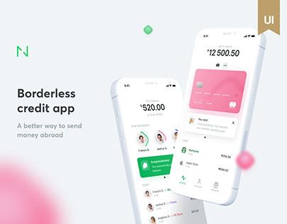 Borderless credit app