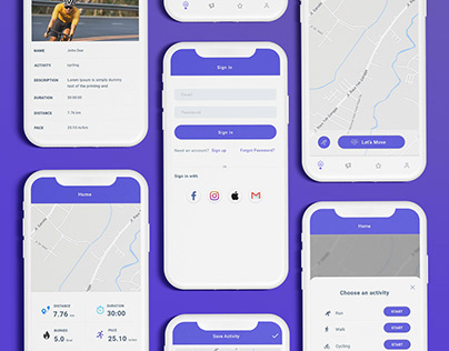 GPS Fitness Tracking App UI/UX Design