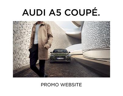 Promo Website. Audi A5 Coupé.