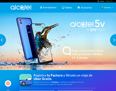 Alcatel Latam - Web Design