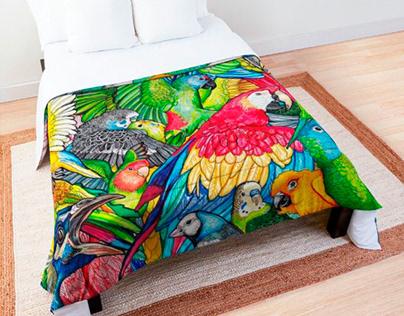 Pattern textil decoración para www.eldiosdelostres.com