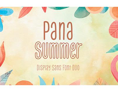 Pana Summer – Font Duo