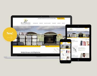 Neue  responsive Webseite für Bollig & Kemper.
