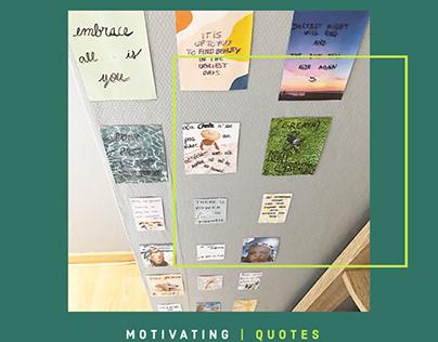 Aesthetic & Motivating quotes- Decoration & design.