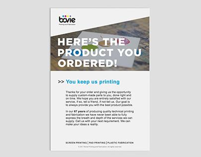 Shipping Flyer For Bovie