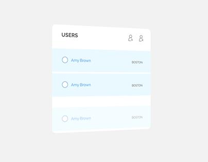User Card Animation