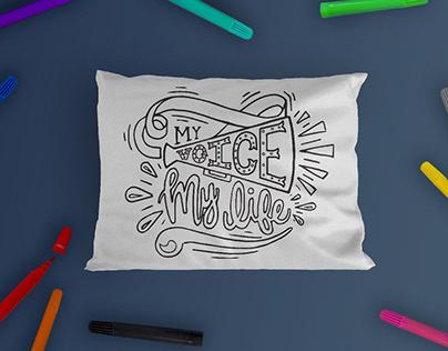 Brave Woman: Colorable Pillowcase