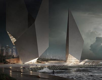 Exterior CGI for an Oceanside Hotel