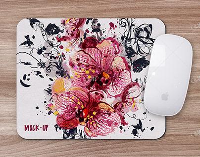 Mouse Pad Mock-up. PSD Smart Object