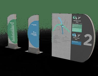 Sinalização e Mobiliário - Viaduto da Carlos Gomes