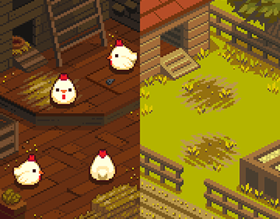 Pixel Art Commission - Untitled Chicken Game