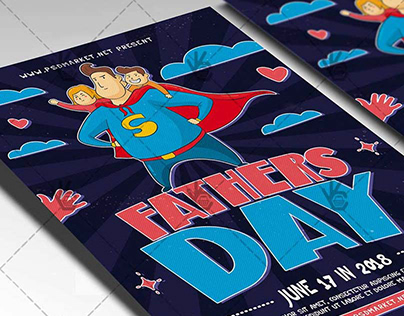 Fathers Day Special Flyer - PSD Template