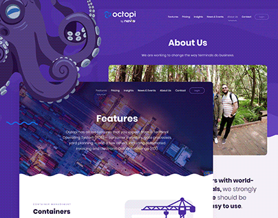 Web Design and Development for Octopi by Navis