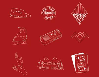"""Cartel para la serie """"Twin Peaks"""""""