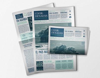 """""""Coordenadas"""" / Diseño Editorial _ Diario"""
