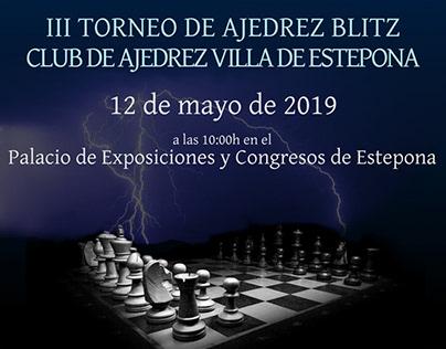 Cartel III Torneo de Ajedrez Blitz CAVE