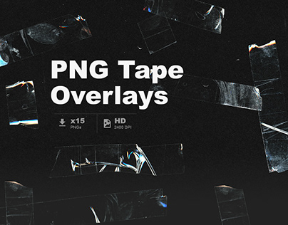 PNG Tape Overlays