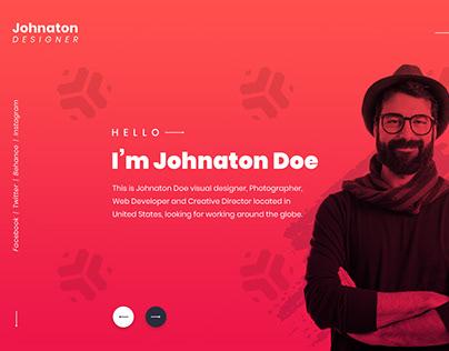 Creative Header Concept for - Designer, Freelancer