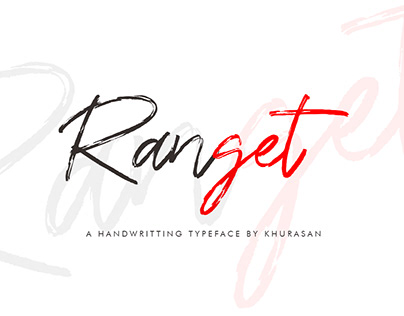 Ranget Brush Font 100% Free for Commercial Use