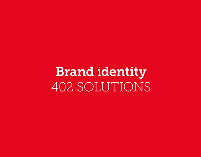 Brand identity: 402 SOLUTIONS