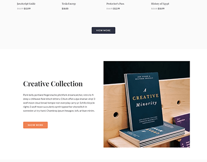 Book Library Website Design