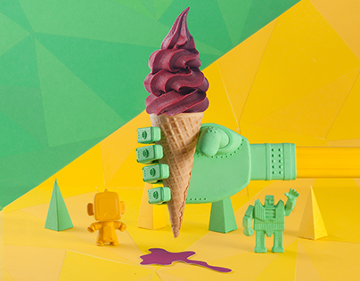 Tactile Design for Hare Burger Campaign 2015