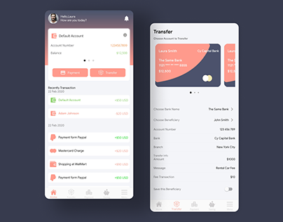 Banking App – Banking Flutter UI Kit Free