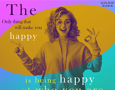 Duotone Photo Effect (GOLDIE HAWN Quote)