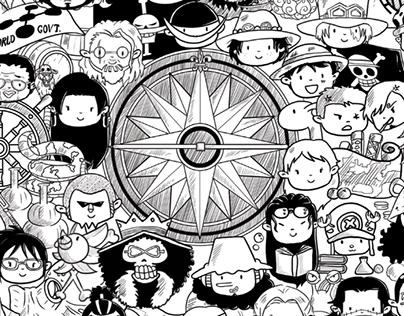 Gambar Doodle One Piece Terkini Banget