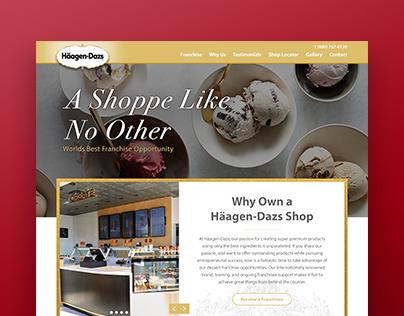 Häagen-Dazs Website Redesign