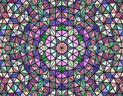 FREE Vector: Colorful Triangle Mosaic Pattern Design