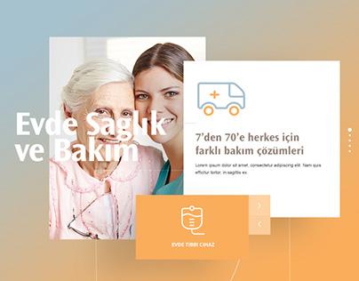 Eczacıbaşı Sağlık Parallax User Interface (UI) Design