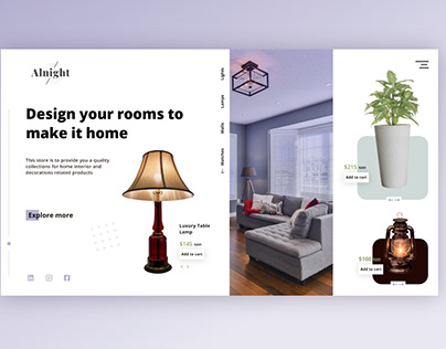A Home interior products store Landing page