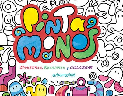 Libro Para Colorear, book for painting, Pinta Monos