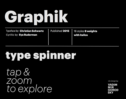 Type Spinner (for Graphik typeface)