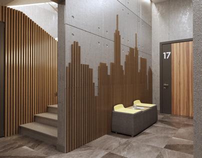 Дизайн холла офисного помещения в Москве