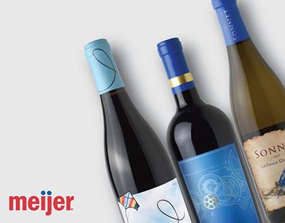 Meijer Wine Private Label Design
