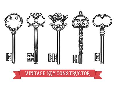 Vintage key constructor