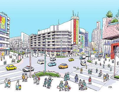 Works | Tokyo Metro Tax Bureau Posters February 2021
