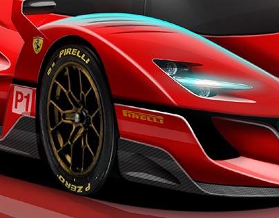WEC Ferrari P6 Hypercar