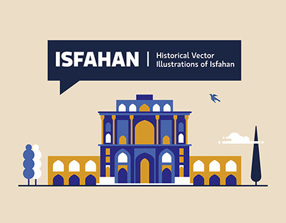 Historical Vector Illustrations of Isfahan